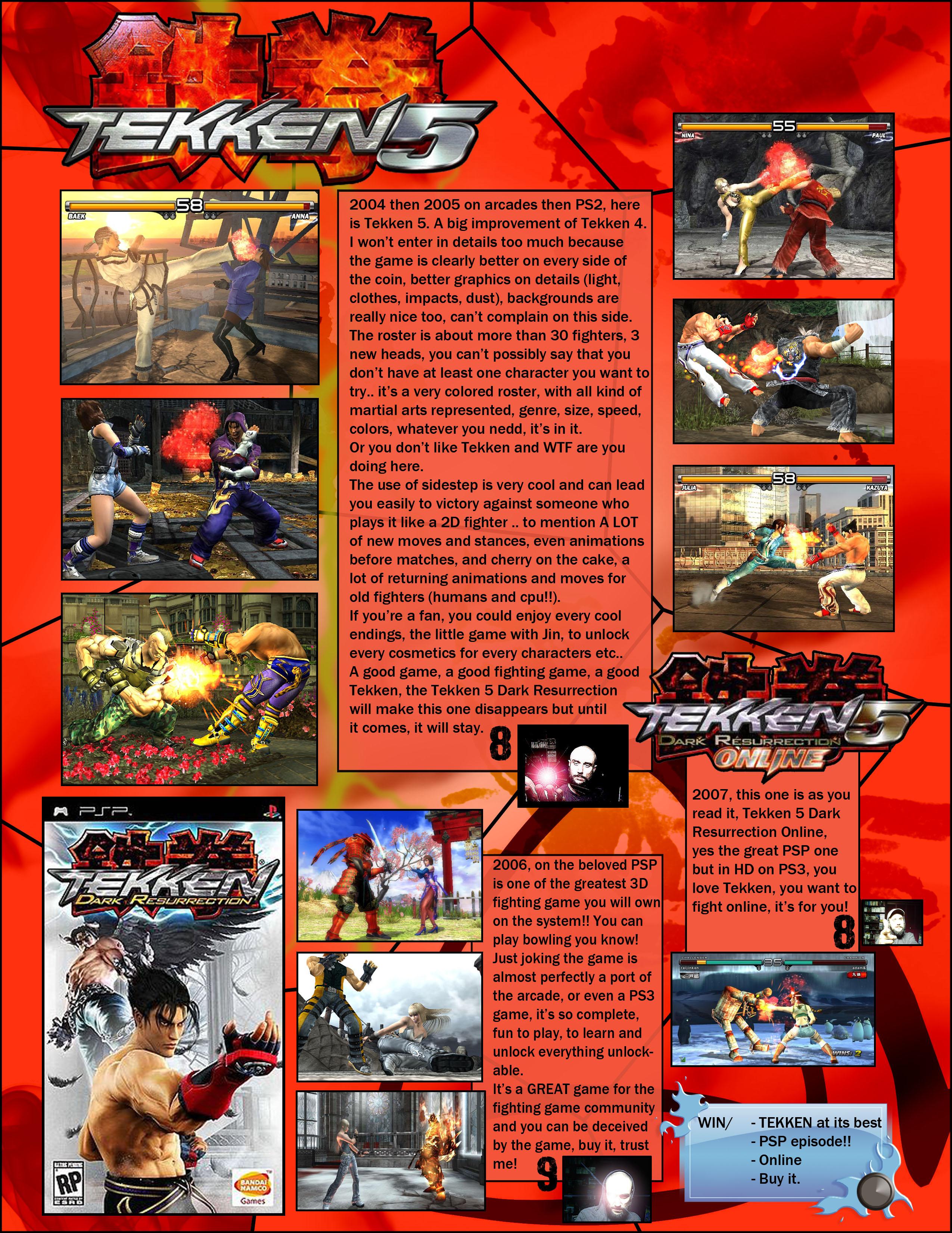 Tekken 5 Dark Resurrection Online Versus The Holy Book Of