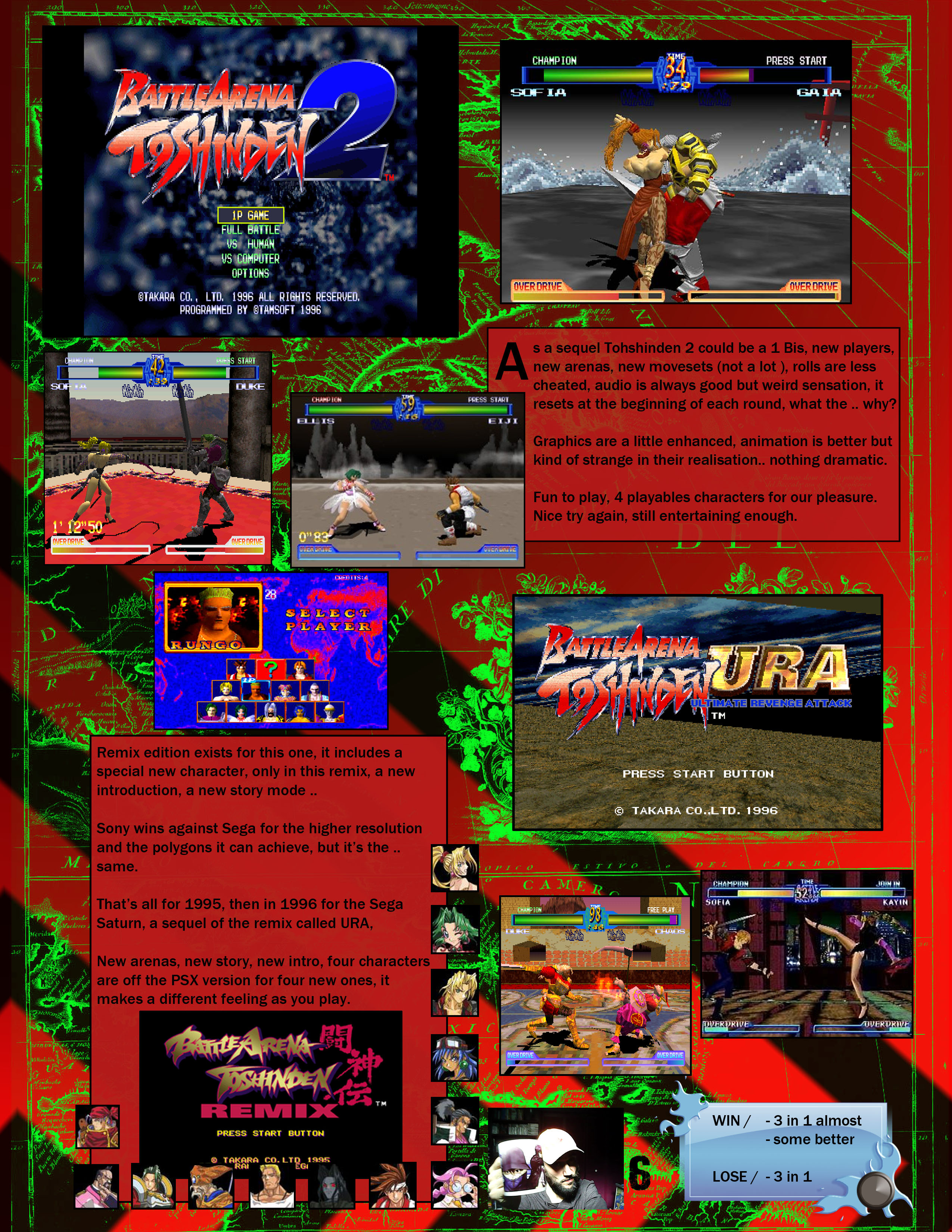 Battle Arena Toshinden 2 Ura Versus The Holy Book Of